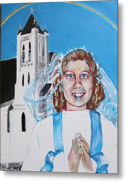 Mary's First Communion Metal Print