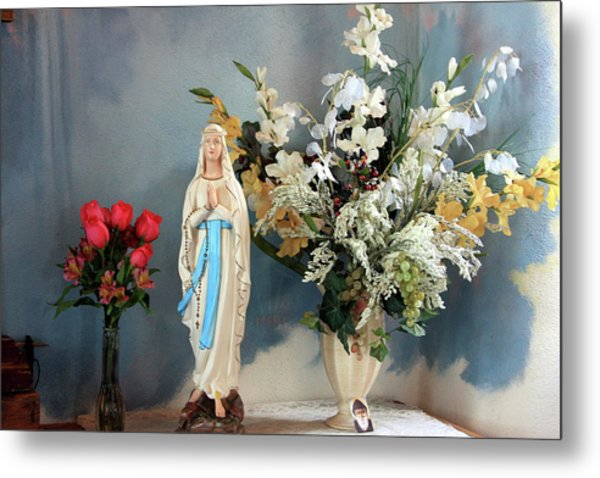 Mary's Roses Metal Print