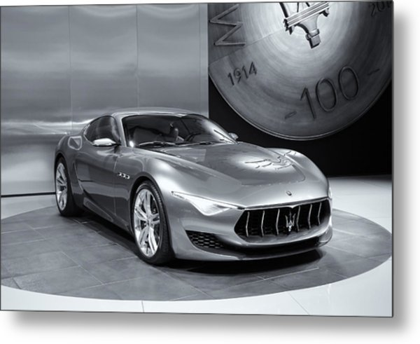 Maserati Alfieri Reflections Mono Metal Print