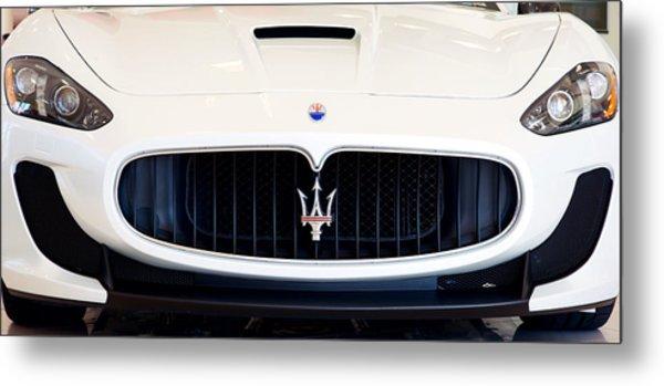 Maserati White Pano 121715 Metal Print