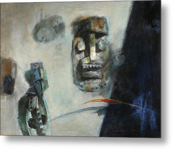 Symbol Mask Painting -02 Metal Print