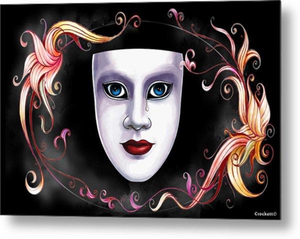 Mask And Vines Metal Print