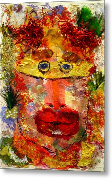 Mask Metal Print by Lessandra Grimley