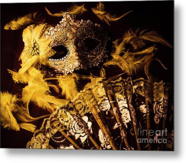Mask Of Theatre Metal Print
