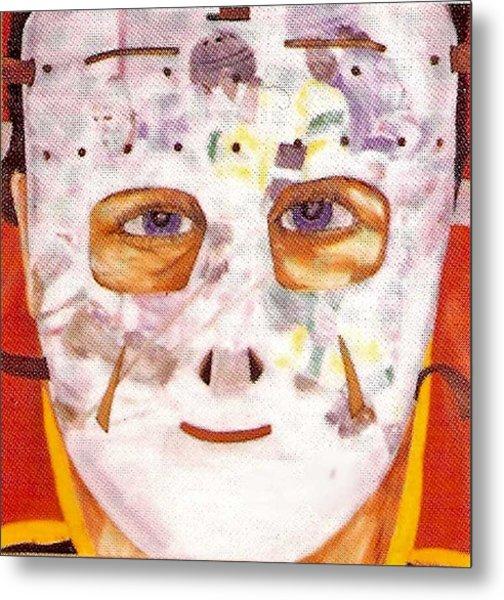 Mask Refection Metal Print by Ken Yackel