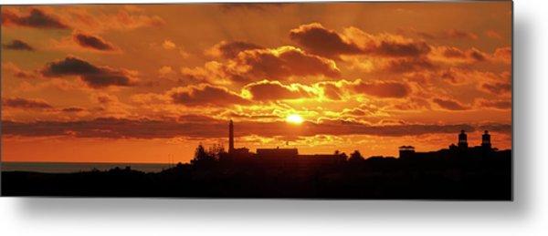 Metal Print featuring the photograph Maspalomas Sunset Panorama by Marc Huebner