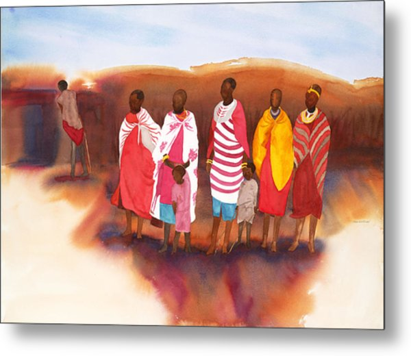 Massai Mommas Metal Print