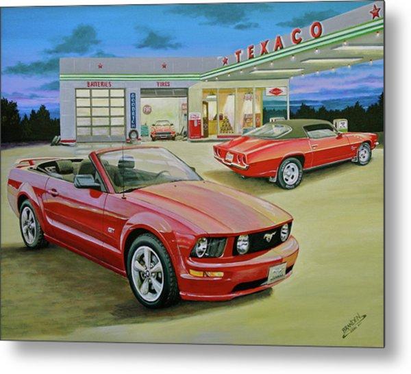Mast Mustang Metal Print by Branden Hochstetler