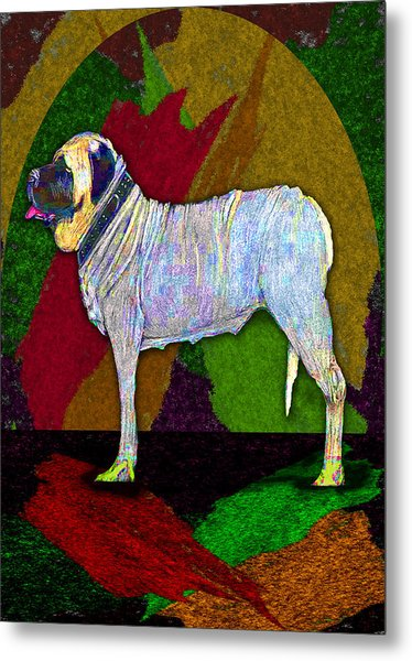 Metal Print featuring the digital art Mastiffically Colorful by Michelle Audas