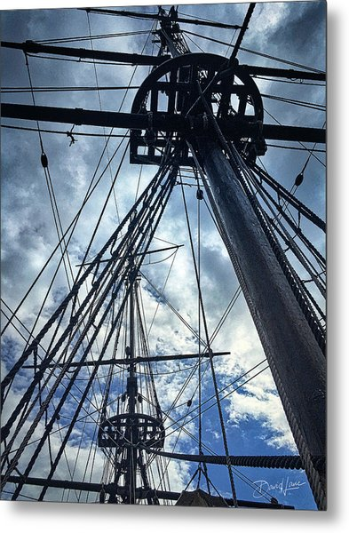 Metal Print featuring the photograph Masts And Rigging by David A Lane