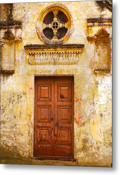 Matera Church Door Metal Print