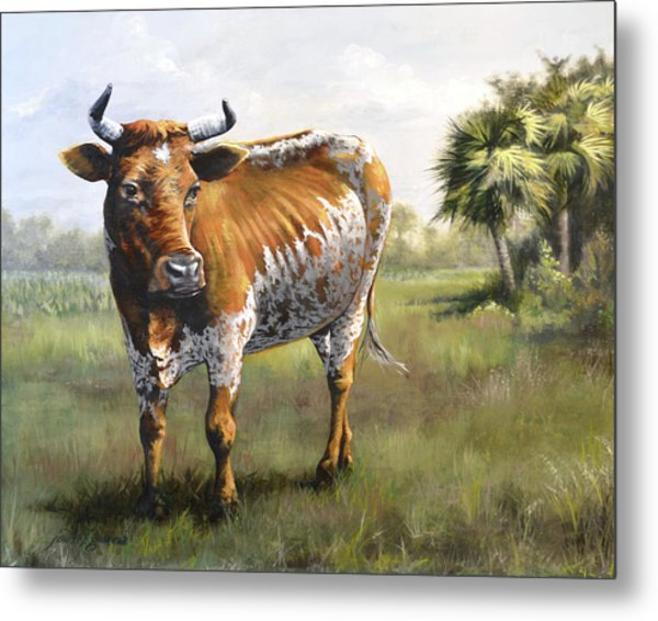 On The Florida Prairie Matilda Metal Print