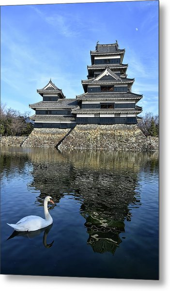 Matsumoto Swan Metal Print