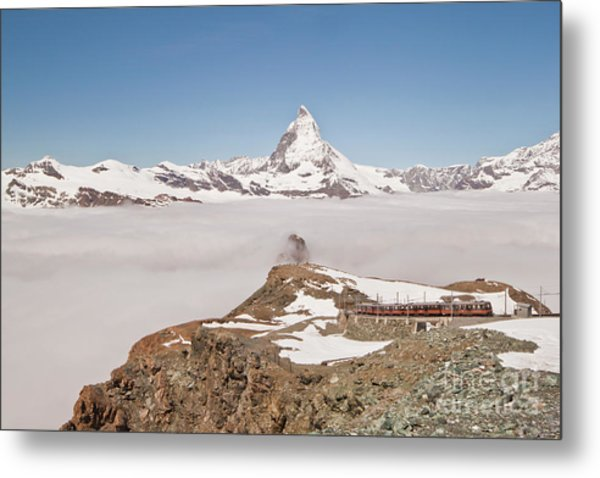 Matterhorn And Fog Metal Print
