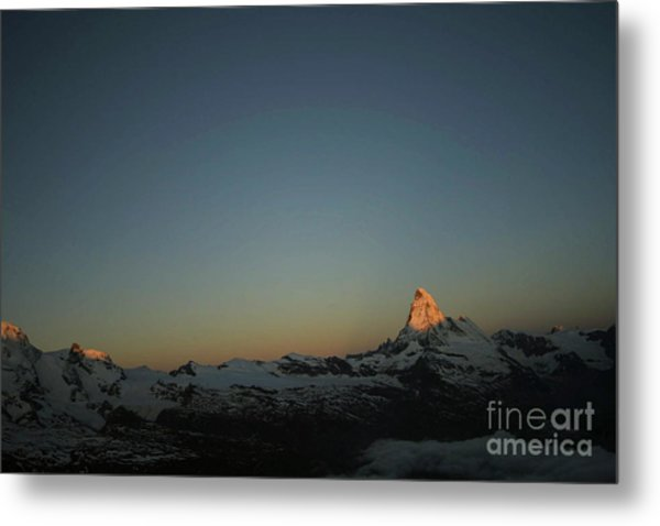 Matterhorn At Sunrise Metal Print