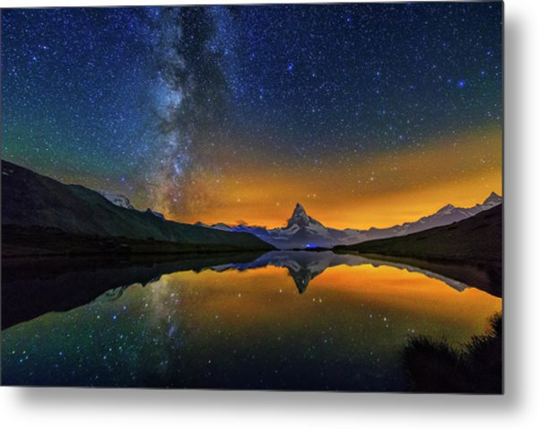 Matterhorn By Night Metal Print
