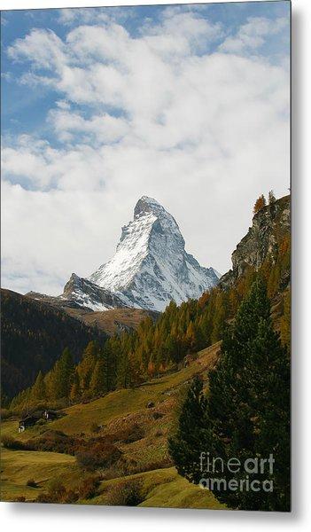 Matterhorn In The Fall Metal Print