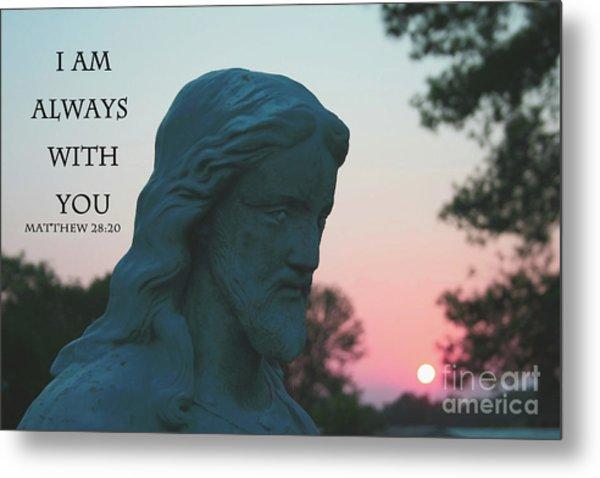 Matthew 28/20 - Jesus Statue Metal Print