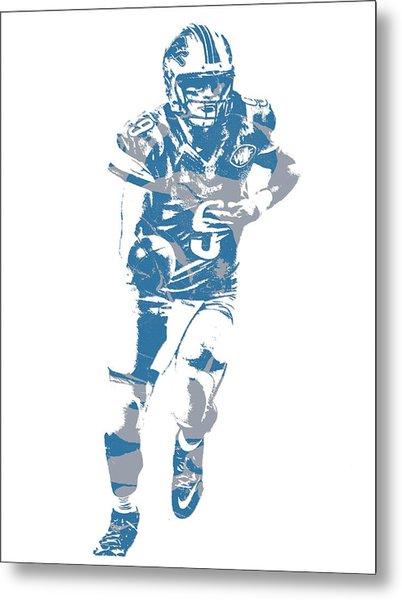 Matthew Stafford Detroit Lions Pixel Art 20 Metal Print