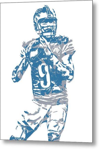 Matthew Stafford Detroit Lions Pixel Art 5 Metal Print