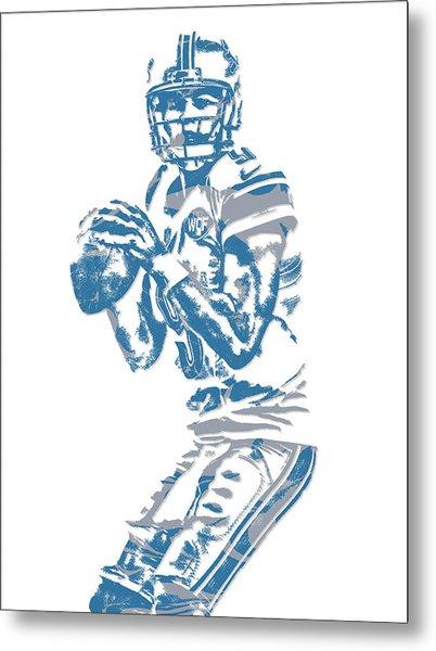 Matthew Stafford Detroit Lions Pixel Art 6 Metal Print