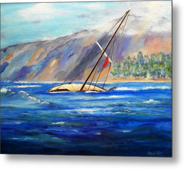 Maui Boat Metal Print