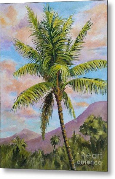 Maui Palm Metal Print