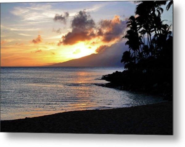 Maui Sunset Aglow Metal Print