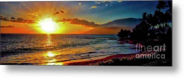 Maui Wedding Beach Sunset  Metal Print