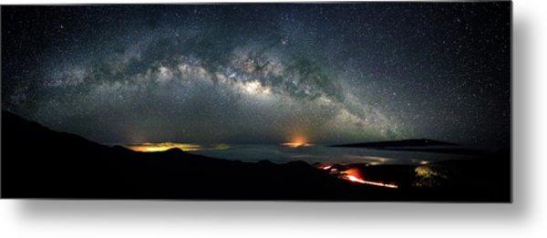 Mauna Kea Milky Way Panorama Metal Print
