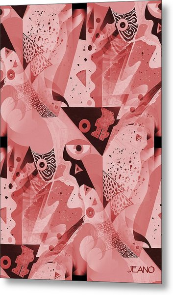 Mauve Melange Metal Print