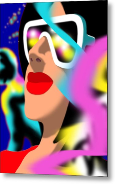 Maxine Midnight Metal Print