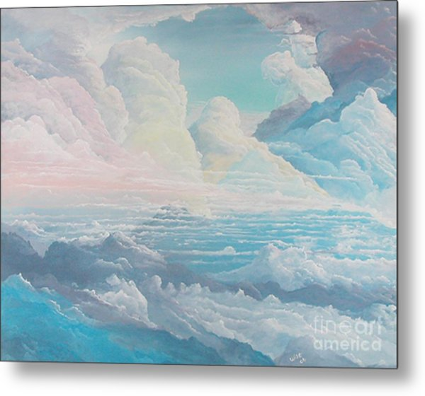 May Colored Clouds Metal Print by John Wise