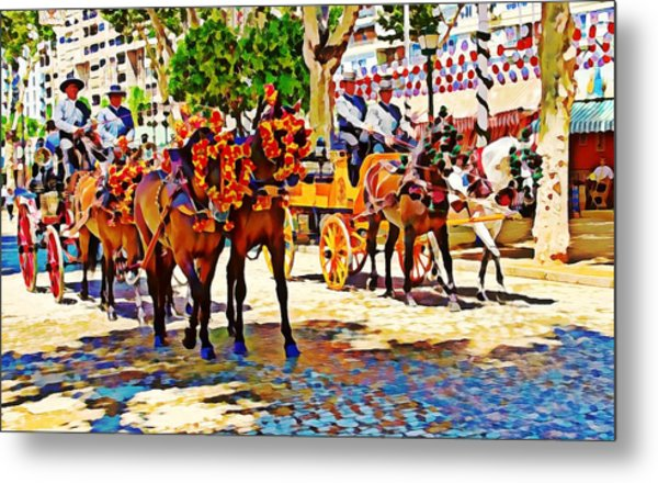 May Day Fair In Sevilla, Spain Metal Print