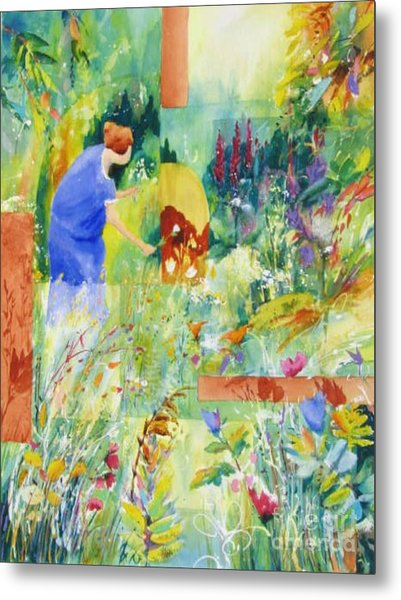 May Meadow Metal Print