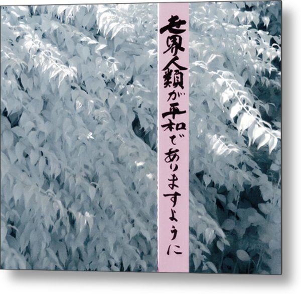 Metal Print featuring the photograph May Peace Prevail On Earth by Helga Novelli
