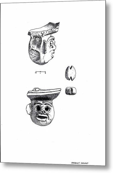 Maya Ceramic Head Metal Print