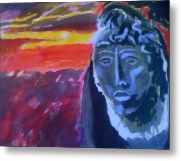 Maya Sunset Metal Print