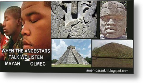 Mayan Olmec Metal Print