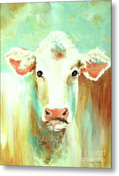 Maybell The Cow Metal Print