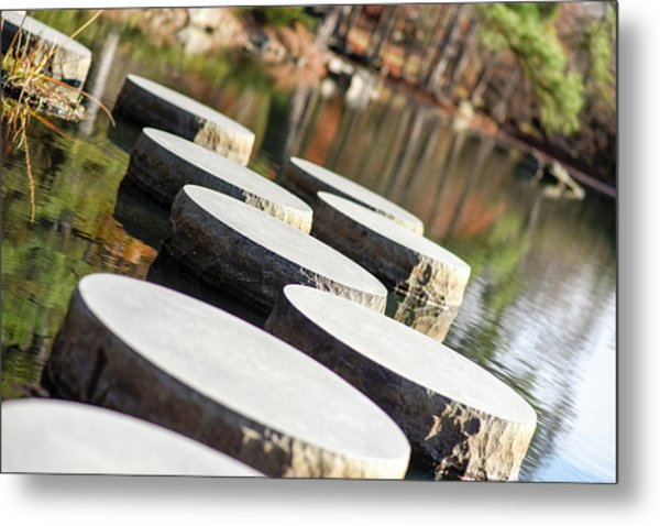 Maymont Stepping Stones Metal Print