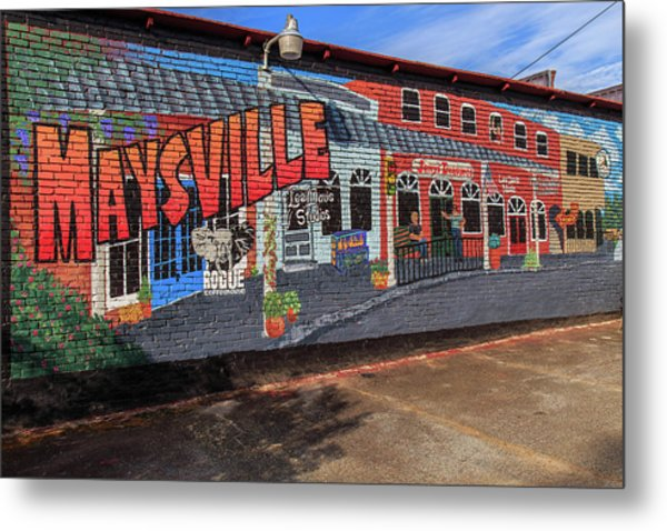 Metal Print featuring the photograph Maysville Mural by Doug Camara