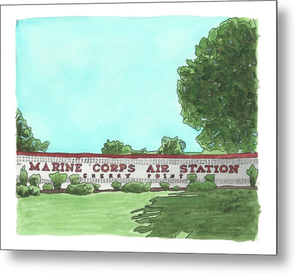 Mcas Cherry Point Welcome Metal Print