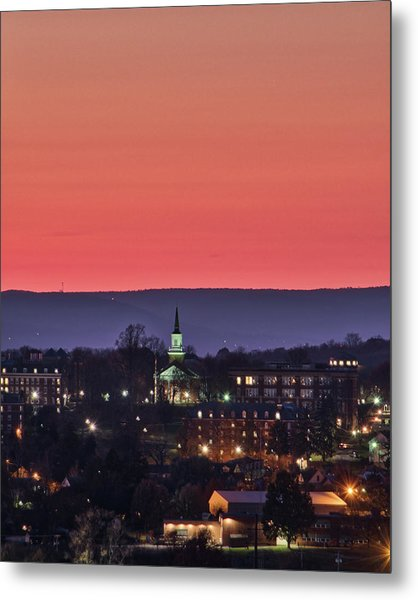 Metal Print featuring the photograph Mcdaniel At Sunset by Mark Dodd
