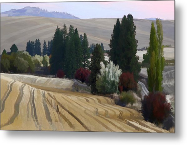 Mckenzie Road In The Palouse Metal Print by Jerry McCollum