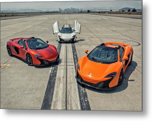 Metal Print featuring the photograph #mclaren #650s #party by ItzKirb Photography