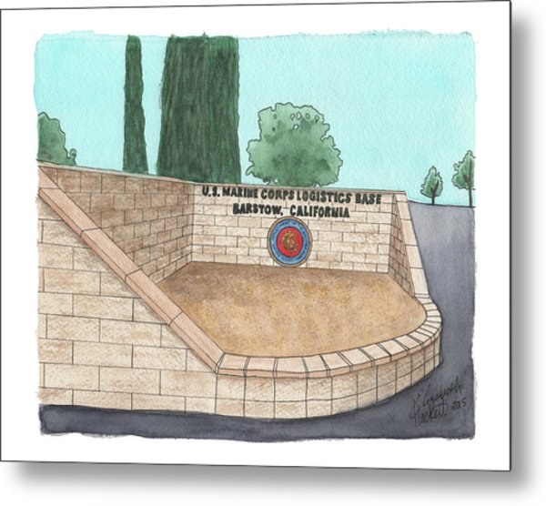 Mclb Barstow Welcome Metal Print
