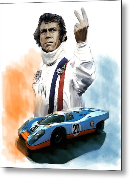 Mcqueens Passion Le Mans Steve Mcqueen Metal Print