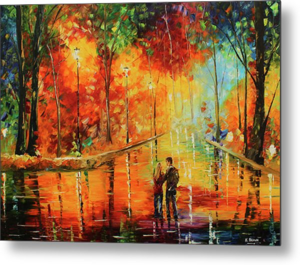 Metal Print featuring the painting Me And My Girl by Kevin Brown