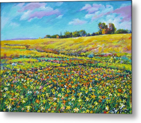 Meadow Of The Quilted Lilies Metal Print by Richard Knox